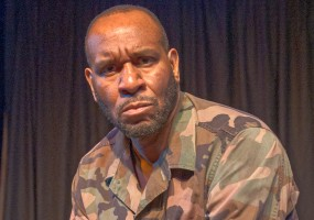 Todd Risby in Soldier with a Secret, a vignette from George C. Wolfe's The Colored Museum at the African-American Shakespeare Company