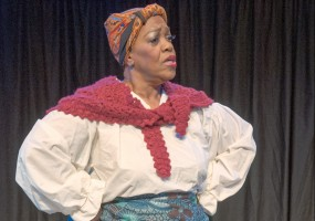 Clara McDaniel as Aunt Ethel in Cookin' with Aunt Ethel; George C. Wolfe's The Colored Museum at the African-American Shakespeare Company
