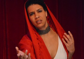Medea (Leontyne Mbele-Mbong) in African-American Shakespeare Company's Medea opens March 8th and runs until March 30th