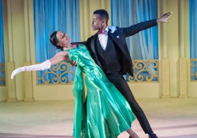 Ballroom Dancers (Ariel Timmons and Michael Wayne Turner) in African-American Shakespeare Company's 2014 production of Cinderella.