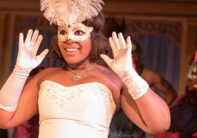 Cinderella (Regina Fields) is at the ball in African-American Shakespeare Company's 2014 production of Cinderella.