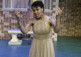 (above) Cathleen Riddley (Nurse) and Leontyne Mbele-Mbong (Medea) Medea requests cries out to Zeus for help and guidance