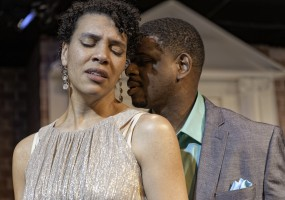 Leontyne Mbele-Mbong (Medea) and Khary Moye (Jason) Jason tries to convince Medea that his marriage to the Princess serves Medea and the children