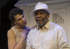Leontyne Mbele-Mbong (Medea) and Dwight Dean Mahabir (Aeigus) Medea solicits the help of Aeigus, King of Athen