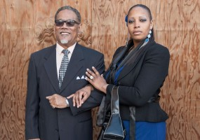 Marcellus (Robert Fisher) and his wife, Fay (Jasmine Strange) are the political powerhouse leaders who promise to rid their streets of gangs and guns in African-American Shakespeare Company's World Premiere of Xtigone by Nambi E. Kelley