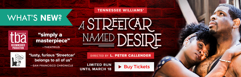 Tennessee Williams' A STREETCAR NAMED DESIRE directed by L. Peter Callender runs until March 18th